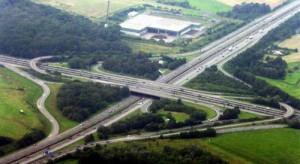 Fyrklöverkorsning på Autobahn